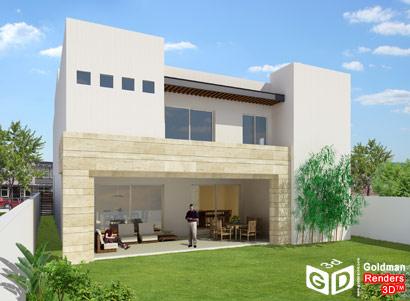 Perspectivas 3d casa de los lagos blog goldman renders 3d for Casas modernas renders